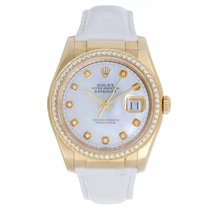Rolex Datejust 18k Yellow Gold Men's Watch on Leather...