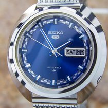 Seiko 5 Automatic Sporty Mens 1970s Japanese Stainless Steel...