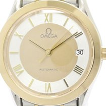 Omega Polished Omega Classic 18k Pink Gold Steel Automatic...
