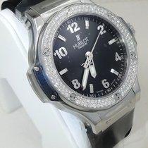 Hublot Big Bang 38mm Diamond Bezel Black Dial 361.sx.1270.rx.1104