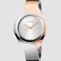 ck Calvin Klein Ladies K5N2S1Z6 Senses Silver Dial Silver/Gold...