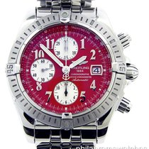 Breitling Chronomat Evolution A1335611/K508 Steel Red Dial...