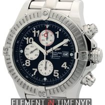Breitling Super Avenger Chronograph Steel 48mm Black Dial Ref....