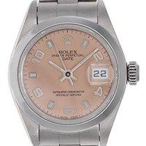 Rolex Ladies Rolex Date Watch 69160 Rose Dial