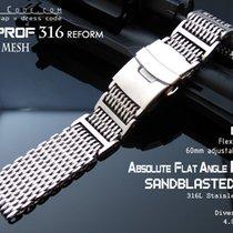 Strapcode 22mm Flexi 316 SS Milanese Mesh Band, Brushed