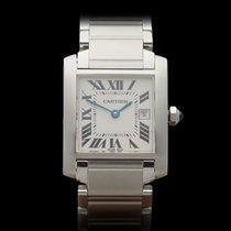 Cartier Tank Francaise Stainless Steel Ladies 2485