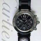 Cartier Pasha Seatimer Steel/Rubber Chronograph Watch Box/Pape...