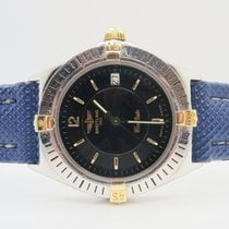 Breitling Callisto 18k Gold Steel Ref. B57045 Blue Special Dial