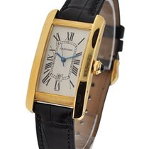 Cartier W2603556 Tank Americaine - Mid Size - Yellow Gold on...