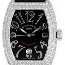 Franck Muller Conquistador Ladies 18k White Gold Diamond Watch...