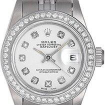 Rolex Ladies Datejust Stainless Steel Diamond Watch 69190...