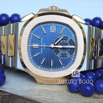Patek Philippe 40.5mm Stainless Steel and Rose Gold Men Naut