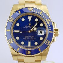 Rolex Submariner Date 18k Yellow Gold NEW UNWORN REF: 116618 bl