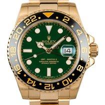 Rolex GMT-MASTER II 40mm 18K Yellow Gold Watch Green 2013