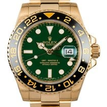 Rolex GMT-MASTER II 40mm 18K Yellow Gold Watch Green  Dial