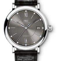 IWC Portofino Midsize Grey - Diamonds - 37mm - VAT INC 22%  NEW