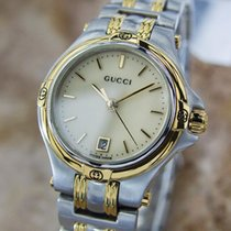 Gucci 9040l Swiss Made Ladies Gold Plated Stainless St C2000...
