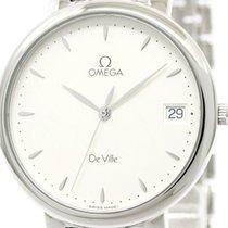 Omega Polished Omega De Ville Stainless Steel Quartz Mens...