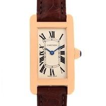 Cartier Tank Americaine 18k Rose Gold Ladies Watch W2607456...