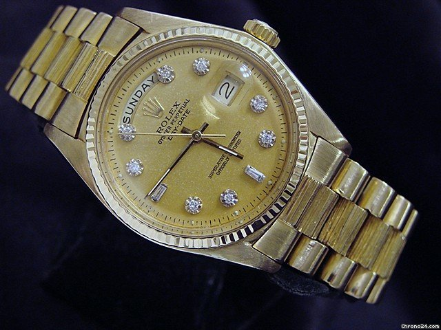 Rolex 18k Yellow Gold Day Date President W/diamonds