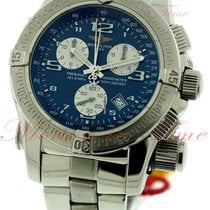 Breitling Emergency Mission, Blue Dial - Stainless Steel on...