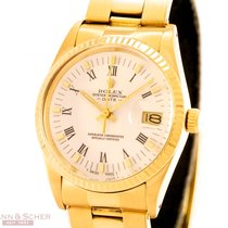 Rolex Date Ref-15038 18k Yellow Gold Box Papers Bj-1988