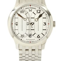 Carlo Ferrara Sport Regulator Steel White Dial & Bracelet