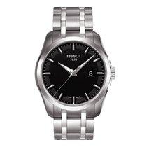 Tissot Men's T035.410.11.051.00 Couturier Black Dial Watch