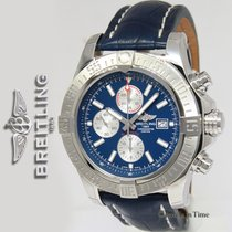Breitling Super Avenger II Steel Blue Mens Watch Box/Papers...