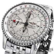 Breitling Mens Breitling Navitimer World Gmt White Face...