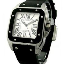 Cartier W20121U2 Santos 100 - Large Size with Rubber Bezel -...