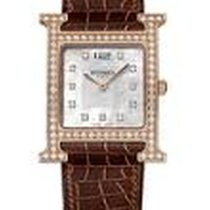 Hermès Heure H White Mother Of Pearl Diamond Dial Ladies Watch