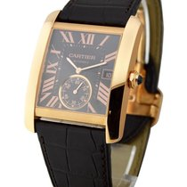 Cartier W5330002 Tank MC Mens Manual in Rose Gold - Brown...
