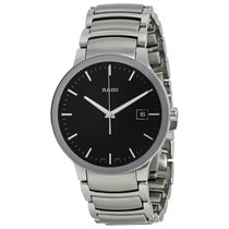 Rado Mens R30927153 Centrix Black Dial Stainless Steel Watch