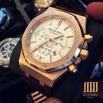 Audemars Piguet Royal Oak Rose Gold Chronograph Leather Strap