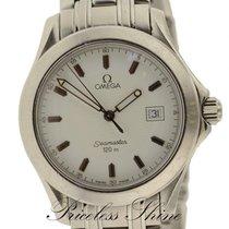 Omega Seamaster 120m Quartz White Dial W/ Date On Bracelet