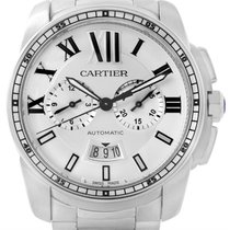 Cartier Calibre Stainless Steel Chronograph Mens Watch W7100045