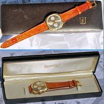 Chronograph Eberhard Rara Edizione Con Quadrante Grigio Oro 18...