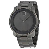 Movado Bold Grey Dial Grey Ion-Plated Mens Quartz Watch 3600259