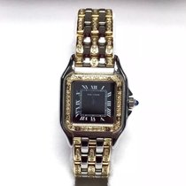 Cartier Panthére 2 Tone Ladies Watch Diamonds & Black Dial...