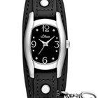 S.Oliver SO-2170-LQ Damen-Armbanduhr silber schwarz
