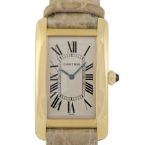 Cartier 18k Gold Tank Americaine, Ref: 1735