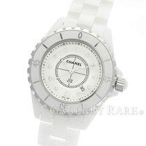 "Chanel J12 White Ceramic Diamond Index Quartz 33MM ""New..."