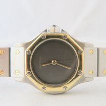 Cartier Octagon 18k Gold Steel Grey Dial Automatic 24mm (Only...