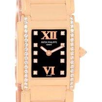 Patek Philippe Twenty-4 Small 18k Rose Gold Diamond Watch...