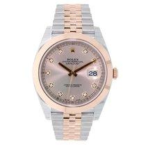 Rolex DATEJUST 41 Steel & 18K Rose Gold Sundust Diamond Dial