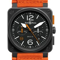 Bell & Ross BR0394 ORANGE CARBONE