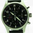 IWC Pilot 43mm Mens Watch Chronograph 377701 Automatic Day...