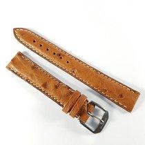 Wempe 15mm brown bouquet leather strap Kaufmann & buckle
