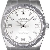 Rolex Air-King Stainless Steel Men's Watch 114210 Silver Dial